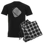 My Daddy is a Sailor dog tag Men's Dark Pajamas