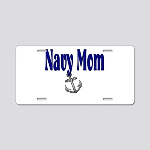 Navy Mom Sleep with a Biker Aluminum License Plate