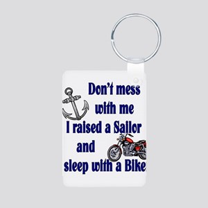 Raised a Sailor Sleep with a Aluminum Photo Keycha