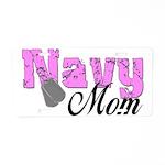 Navy Mom Aluminum License Plate