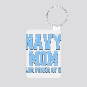 Navy Mom and Proud of it Aluminum Photo Keychain