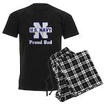 Proud Navy Dad Men's Dark Pajamas