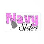Navy Sister Aluminum License Plate