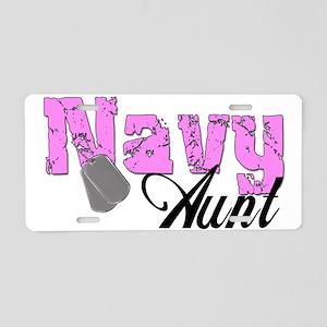 Navy Aunt Aluminum License Plate