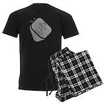 My Fiance is a Sailor dog tag Men's Dark Pajamas