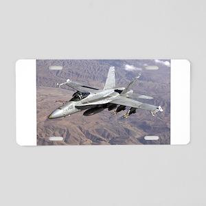 F-18 Hornet Aluminum License Plate