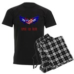 Support our Troops Heart Men's Dark Pajamas