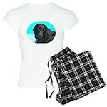 Black Lab image on Women's Light Pajamas
