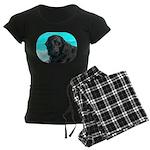 Black Lab image on Women's Dark Pajamas