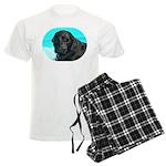 Black Lab image on Men's Light Pajamas