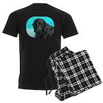 Black Lab image on Men's Dark Pajamas