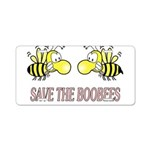 Save the Boobees Aluminum License Plate