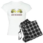 Save The Boobees without ribb Women's Light Pajama
