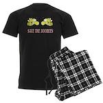 Save The Boobees without ribb Men's Dark Pajamas