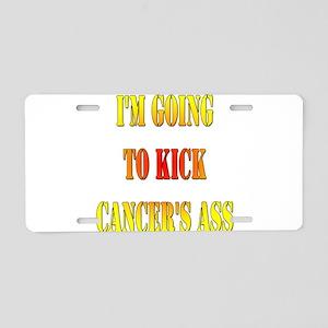Kick Cancer's Ass Aluminum License Plate