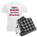 English Speaking American Men's Light Pajamas