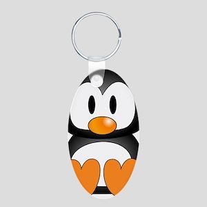 Cute Penguin Aluminum Oval Keychain