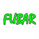 FUBAR ver4 Aluminum License Plate