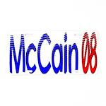 John McCain 08 Aluminum License Plate