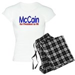 McCain for president in 08 Women's Light Pajamas
