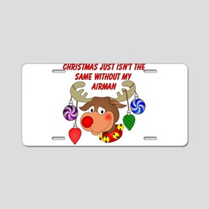 Christmas without my Airman Aluminum License Plate