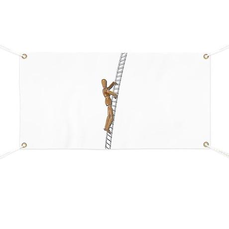 Climbing Metal Ladder Banner