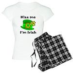 Kiss Me I'm Irish Hat Women's Light Pajamas