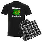 Kiss Me I'm Irish Hat Men's Dark Pajamas