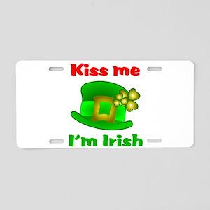 Kiss Me I'm Irish Hat ver2 Aluminum License Plate