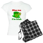 Kiss Me I'm Irish Hat ver2 Women's Light Pajamas