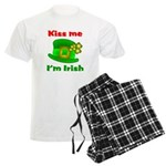 Kiss Me I'm Irish Hat ver2 Men's Light Pajamas