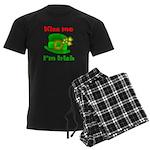Kiss Me I'm Irish Hat ver2 Men's Dark Pajamas