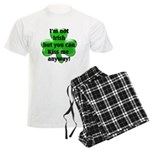 Not Irish, Kiss Me Men's Light Pajamas