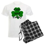 Cute and Lucky Shamrock Men's Light Pajamas