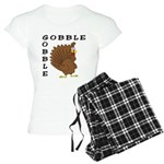 Gobble Gobble Turkey Women's Light Pajamas