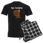 Happy Thanksgiving Men's Dark Pajamas