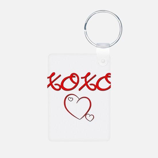 XOXO Heart Keychains
