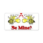 Be Mine Bees Aluminum License Plate