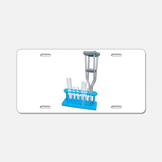 Dependent on Chemicals Aluminum License Plate