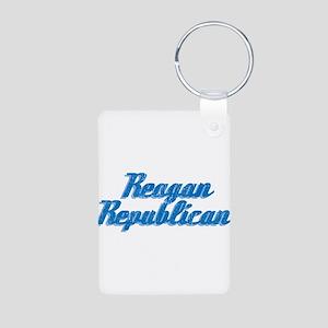 Reagan Republican (blue) Aluminum Photo Keychain