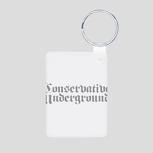 Conservative Underground Aluminum Photo Keychain
