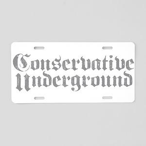 Conservative Underground Aluminum License Plate