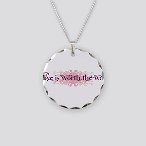 Worth the Wait Necklace Circle Charm