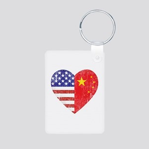 Family Heart Aluminum Photo Keychain