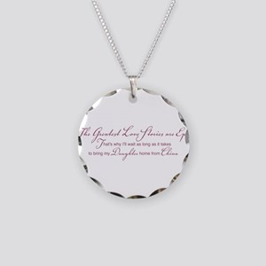 Greatest Love Story Necklace Circle Charm