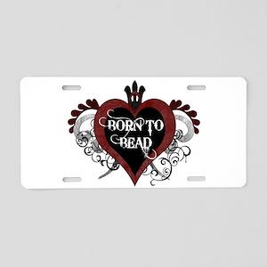 Born To Bead heart Aluminum License Plate