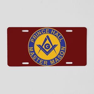 Prince Hall Master Masons Aluminum License Plate