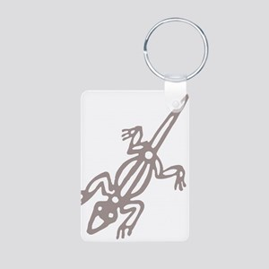 Climbing Lizard Aluminum Photo Keychain