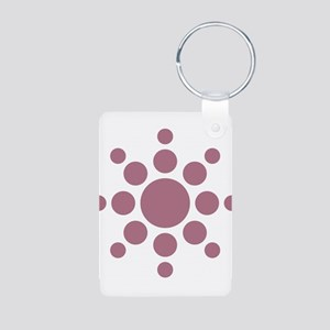 Sun Symbol Aluminum Photo Keychain