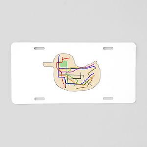 Subway Map Aluminum License Plate